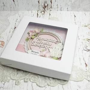 kolorowe scrapbooking kartki chrzest św pamiątka chrztu dla dziewczynki