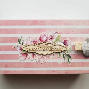chrzest scrapbooking kartki różowe pamiątka chrztu, narodzin, urodzin