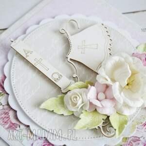 chrzest scrapbooking kartki różowe pamiątka chrztu św