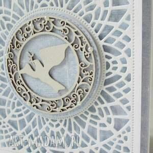 niebieskie scrapbooking kartki chrzest pamiątka chrztu