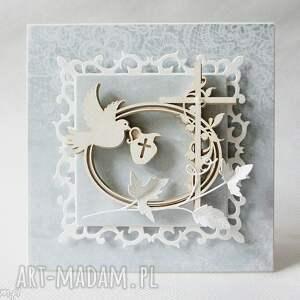 scrapbooking kartki zaproszenie pamiątka chrztu - w pudełku