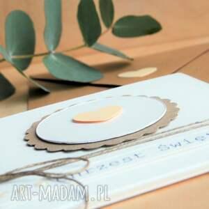 zaproszenie scrapbooking kartki pamiątka chrztu świętego