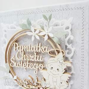 życzenia scrapbooking kartki pamiątka chrztu - w pudełku