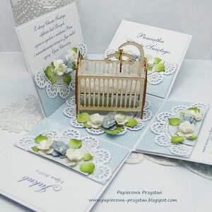 hand-made scrapbooking kartki pudełko-chrzest pamiątkowe pudełko na chrzest