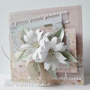 beżowe scrapbooking kartki gratulacje pastelowa - w pudełku