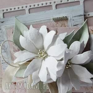 ślub scrapbooking kartki białe pastelowa - w pudełku