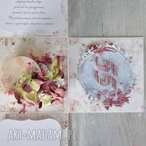 scrapbooking kartki życzenia personalizowane pudełko