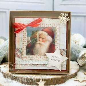 na święta upominek boże narodzenie piękna kartka bożonarodzeniowa