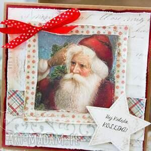 na święta upominek kartka świąteczna piękna bożonarodzeniowa