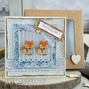 ręcznie wykonane scrapbooking kartki piękna rustykalna kartka ślubna