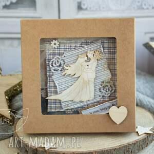 niepowtarzalne scrapbooking kartki kartka ślubna piękna rustykalna
