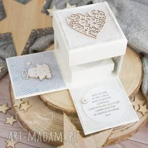 hand made narodziny przepiękne eksplodujące pudełeczko