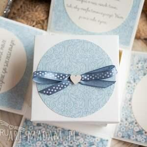 turkusowe scrapbooking kartki ślubny przepiękne eksplodujące pudełeczko