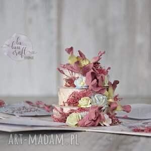 kolorowe scrapbooking kartki urodzinowa pudełko eksplodujące na urodziny