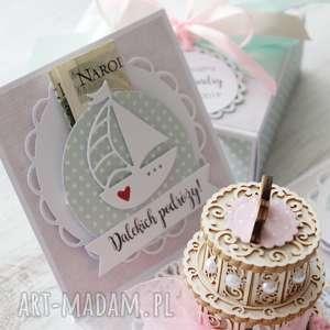 kartka scrapbooking kartki różowe pudełko eksplodujące -