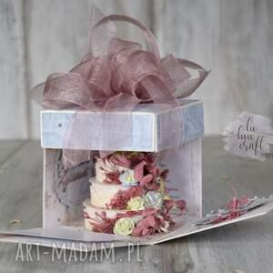 życzenia scrapbooking kartki pudełko eksplodujące na urodziny