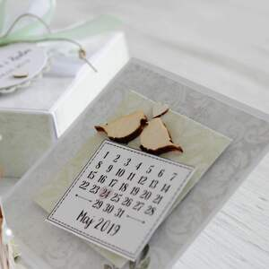 prezent scrapbooking kartki pudełko - kartka na ślub