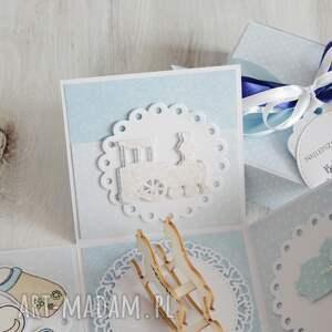 eleganckie scrapbooking kartki narodziny pudełko - kartka na chrzest lub