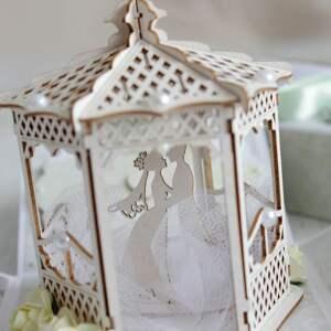 scrapbooking kartki prezent pudełko - kartka na ślub