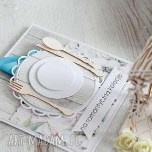 scrapbooking kartki: Pudełko - kartka z życzeniami - prezent na ślub na-ślub