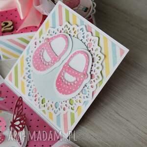 kolorowe scrapbooking kartki roczek pudełko - kartka na urodziny