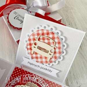 białe scrapbooking kartki urodziny pudełko kartka