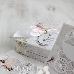 scrapbooking kartki kartka pudełko na ślub -