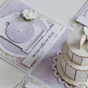 scrapbooking kartki pudełko - niespodzianka na ślub