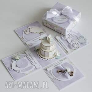 handmade scrapbooking kartki ślub pudełko - niespodzianka na