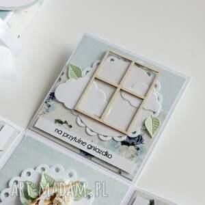 ślub scrapbooking kartki pudełko - niespodzianka na