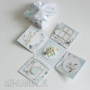 unikatowe scrapbooking kartki pudełko - niespodzianka na ślub