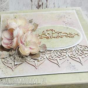 oryginalne scrapbooking kartki ślub pudełko ślubne z