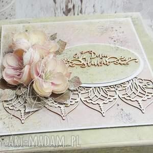 oryginalne scrapbooking kartki ślub pudełko ślubne z przegródkami