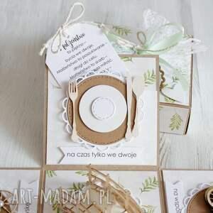 scrapbooking kartki wesele pudełko z niespodzianką - kartka