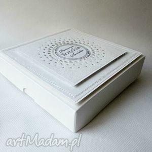 scrapbooking kartki komunia pudełko z życzeniami -