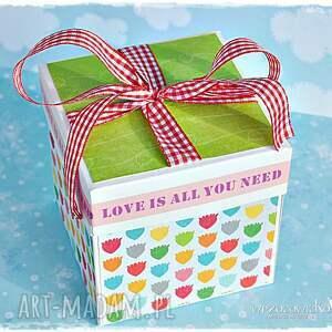niepowtarzalne scrapbooking kartki exploding radosne życzenia ślubne - box