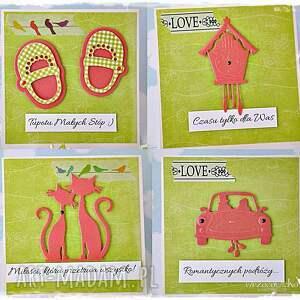 scrapbooking kartki ślubne radosne życzenia - box