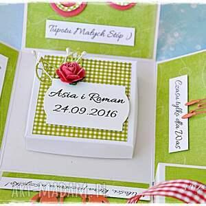niepowtarzalne scrapbooking kartki ślubne radosne życzenia - box