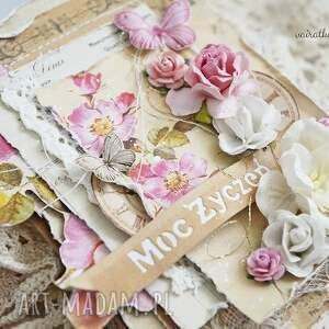 Vairatka Handmade Różane życzenia (kartka z pudełkiem)