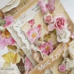 Różane życzenia (kartka z pudełkiem) urodziny