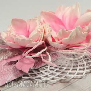 białe scrapbooking kartki życzenia różowa