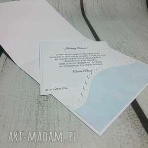 zaproszenie scrapbooking kartki turkusowe słonik z kokardą