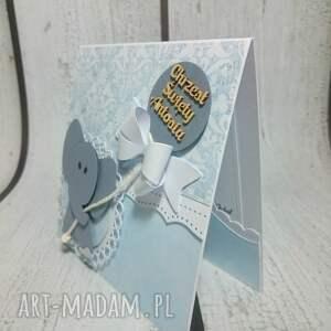 unikalne scrapbooking kartki zaproszenie słonik z kokardą