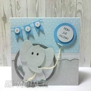 nietypowe scrapbooking kartki urodziny słonikowy roczek