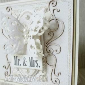 scrapbooking kartki ślub mr. &mrs.