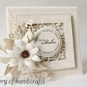 niepowtarzalne scrapbooking kartki ślub - 2 sztuki w pudełkach