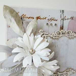 ślub scrapbooking kartki różowe ślubna elegancja - w pudełku