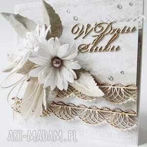 scrapbooking kartki życzenia ślubna elegancja - w pudełku