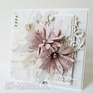 złote scrapbooking kartki pamiątka ślubna elegancja - w pudełku