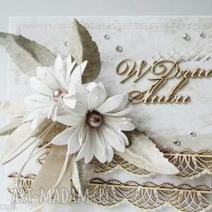 białe scrapbooking kartki ślub ślubna elegancja - w pudełku